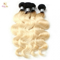 Sanny 1B/613 Blonde Bundles Body Wave 100% Human Hair Weaving 10-30Inch Remy Hair Extension Free Shipping