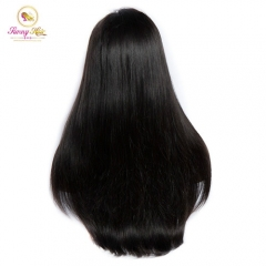 Sanny Hair Full 200% Natural Hairline NEW 360 Frontal Wig Straight Hair Can Be Curled