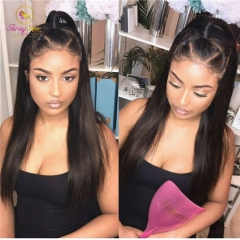 New Arrival 13*6 Human Hair Wigs with Baby Hair Brazilian Remy Hair  Long Parting Space
