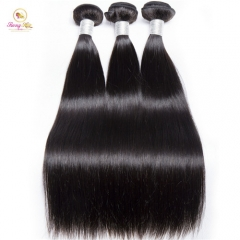 Sanny Hair Peruvian Straight 3 Bundles Deals 10-30 Mixed Inches Remy Hair Weave Extensions 100% Real Human Hair Bundles