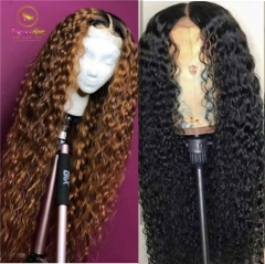 Deep Curly & Deep Wave 13*6 Human Hair Wigs with Baby Hair Brazilian Remy Hair