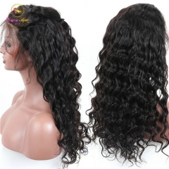 Peruvian Hair 200% Beautiful Deep Wave Wig, Soft Lace Front Wig with Baby Hair, Natural Hairline