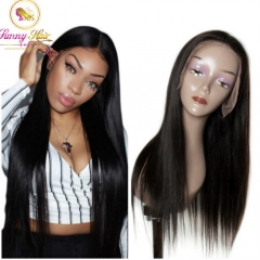 Virgin Hair with Intact Cuticle, Silk Straight Full Lace Wig, Natural Pre Plucked Hairline