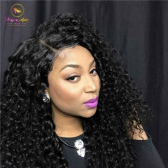 13*6 Human Hair Wigs Kinky Curly 150% Natural Color Peruvian Remy Hair Wigs With Baby Hair