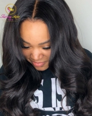 100% Human Hair Can Be Dyed,Permed,Curled, Body Wave Full Lace Unit