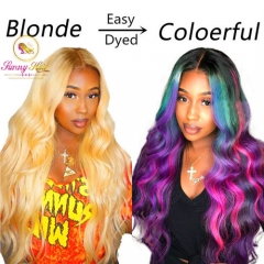 Sanny Hair Wig Platinum Blonde Body Wave Lace Frontal Wig at Affordable Price,Glueless Adjustable 613 Wig, Free Shipping