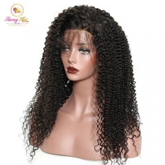 Indian Kinky Curly 150% Density Lace Front Wig Human Hair Wigs With Baby Hair Affordable Hair