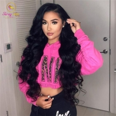 Sanny Hair Full 200% Natural Hairline NEW 360 Frontal Wig Body Wave Hair Can Be Curled