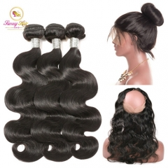 Body Wave Bundles Deals with 360 New Lace Frontal, Ponytail Frontal