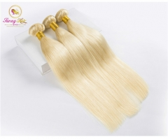 3 Bundle Deals, Russian Blonde Silk Straight Hair, Can Dye to Any Color
