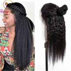 Kinky Straight 13*6 Human Hair Wigs with Baby Hair Brazilian Remy Hair