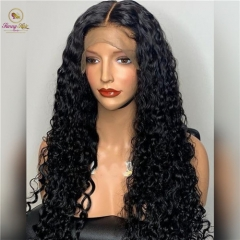 Deep Curly & Deep Wave 150% Human Hair Lace Front Wigs with Baby Hair Brazilian Remy Hair