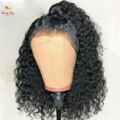 Full Lace Human Hair Wigs Peruvian Water Wave Wig Pre Plucked Wigs Human Hair With Baby Hair