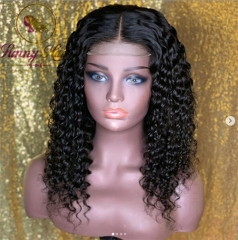 Italian Curly Human Hair Lace Front Wigs with Baby Hair Remy Hair