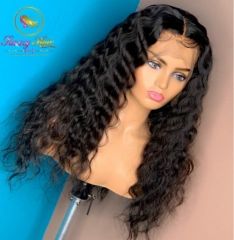 Lace Front 150% Human Hair Wigs Malaysian Deep Wave Wig Pre Plucked Wigs Human Hair With Baby Hair Long Black Hair