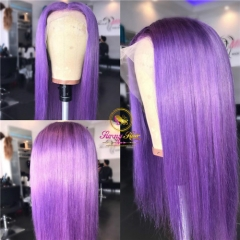 Sanny Lavender Purple Pre Plucked Lace Front Human Hair Wigs With Baby Hair Straight Remy Hair Brazilian Lace Front Wigs
