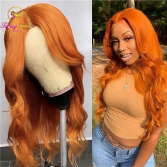 Sanny Hair Wig Orange Color Body Wave Lace Frontal Wig at Affordable Price,Glueless Adjustable Wig, Free Shipping