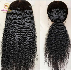150%  Pre Plucked Full lace wig Bleached knots Glueless Water Wave