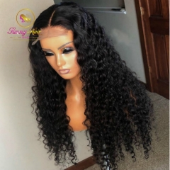 200% 10A Hot Selling Jerry Curly Pre Plucked Wig Bleached knots Glueless 13x6 Lace Front wigs Bleached knots