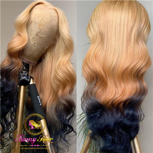 Sanny Pretty Hair Wig Platinum Ombre Blonde Lace Frontal Wig at Affordable Price,Glueless Adjustable Wig, Free Shipping